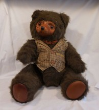 Vtg Lg Robert Raikes Teddy Bear Sebastian By Applause Wood Stuffed Plush... - $42.41