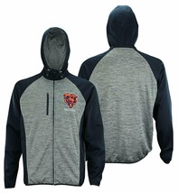 Chicago Bears NFL Men's Zipdown Hoodie Heathered Hooded Jacket Football NEW