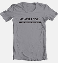 Alpine audio T-shirt car stereo auto speakers radio 100% cotton graphic grey tee image 2