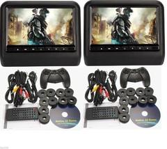 "2016 Black Dual Digital Universal 9"" LCD Screen Headrest Monitor DVD Pla... - $259.00"