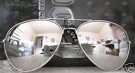 12 Pairs Aviator Sunglasses Large Reflective Silver Mirror Lenses Silver... - $42.57