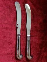 "Kirk Stieff Williamsburg Royal Shell Set of 2 dinner knives 9 7/8""  Korea - $29.69"