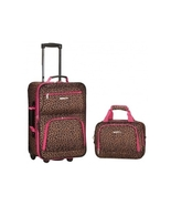 Pink Leopard Print Carry On Suitcase Lightweigh... - $79.95