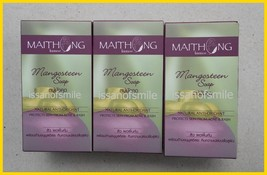3 X 100g. Maithong Natural Mangosteen Soap Acne & Rash, Whitens - $18.99