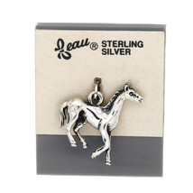 VINTAGE BEAU BEAUCRAFT STERLING SILVER HORSE CHARM - €11,87 EUR