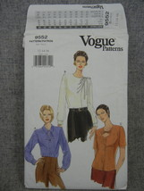 Misses 12-16 petite Blouse Loose fitting  Neckline variations Vogue 9552... - $12.00