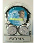 SONY MDR-NC6 Noise Canceling Headphones Silver NIB NEW Portable Audio He... - $39.59