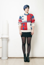 70s vintage wool hand knitted jumper - $47.31