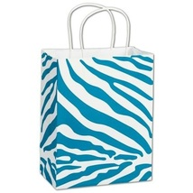 The Wild Side Turquoise Shoppers Gift Bags, 25 pack - $21.50