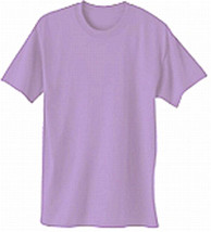 Meduim Plain Lavender T Shirt 50/50 Blend For The Red Hat Ladies Of Society - $8.90
