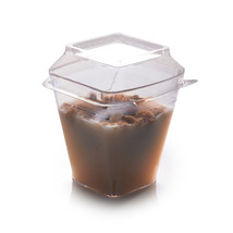 Dome PET Lid for 2 oz Shot Glass/Case of 1000 - $70.56