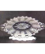 Jacob's Ladder Pattern Glass Relish Dish Ca.1891 - $25.00