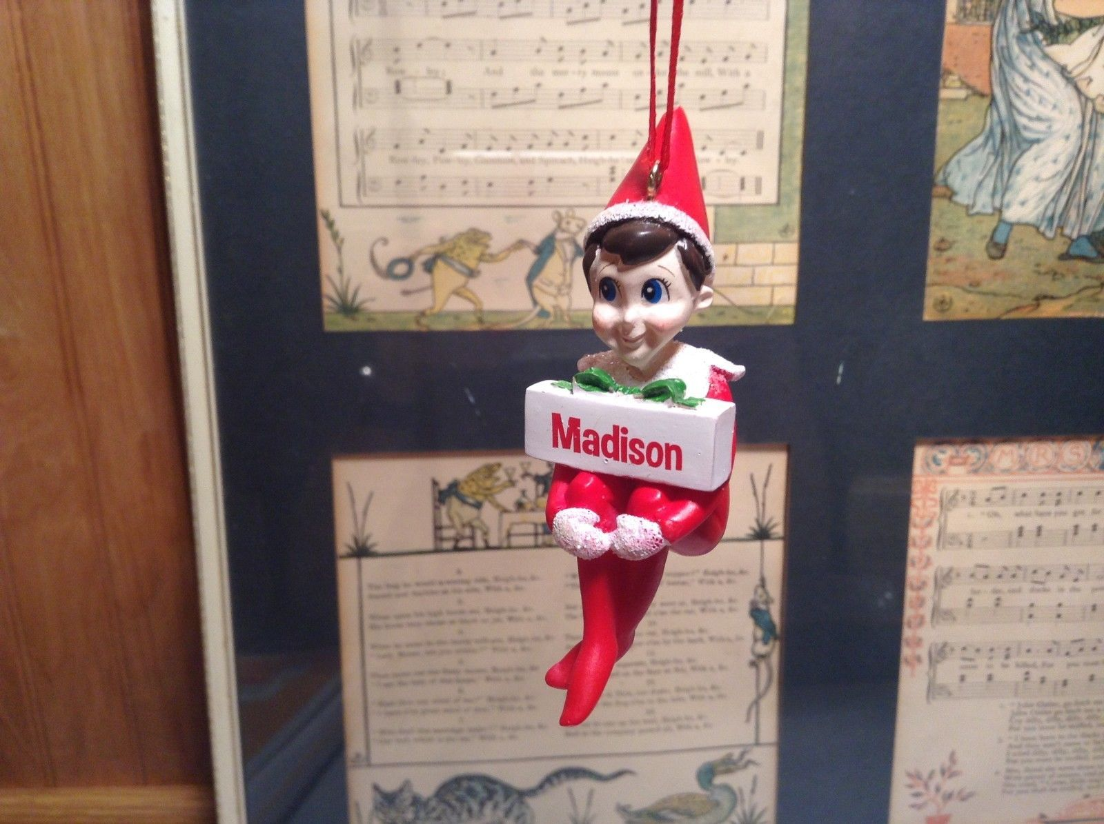 Dept 56 - Elf on the Shelf - Madison banner Christmas Ornament