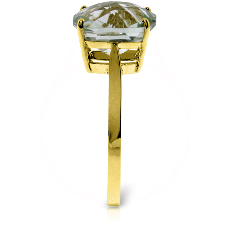 Brand New 3.6 Carat 14K Solid Gold Cabaret Green Amethyst Ring