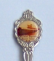 Collector Souvenir Spoon Canada New Brunswick Saint John Market Square - $2.99