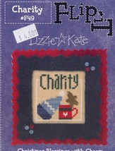 Charity Christmas Blessings Lizzie Kate Cross Stitch Mini Pattern NEW w/... - $2.67