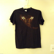 Unisex Tiger Eyes Black Cotton T-Shirt Men's Women's Graphic Print Tee B... - $29.69