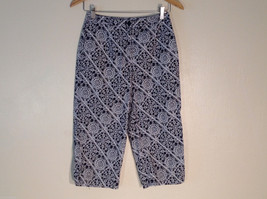 Womens Talbots black and white print capri pants size 4 petite - $37.61