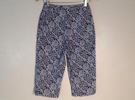 Womens Talbots black and white print capri pants size 4 petite image 2