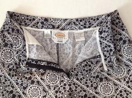 Womens Talbots black and white print capri pants size 4 petite image 4