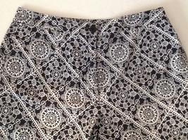 Womens Talbots black and white print capri pants size 4 petite image 3