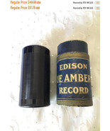 ON SALE Vintage Edison Blue Amberol 4 minute Cylinder Record 1818 Good B... - $42.49