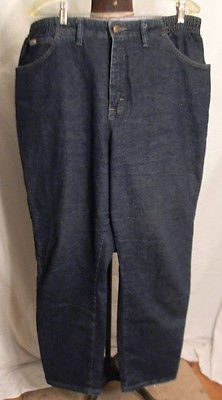 """Lee Jeans Womens 16W Side Elastic at the Waist Several Colors Available 30"""" inse"""