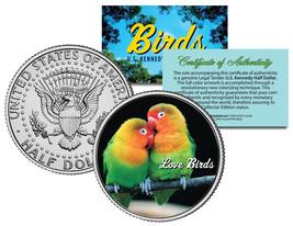 LOVE BIRDS JFK Kennedy Half Dollar US Colorized... - $7.95