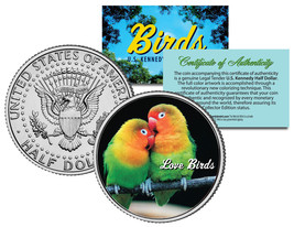 LOVE BIRDS JFK Kennedy Half Dollar US Colorized Coin - $8.95