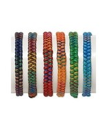 6 Friendship Bracelets Mixed Colors ~ Woven w/ ... - $7.91