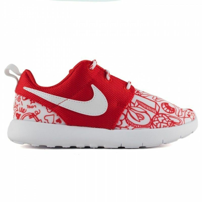 Nike Roshe One Print PS 749347-605 Gym Red Preschool KIDS Shoes