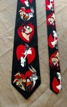Vintage TAZ Sylvester Bugs Looney Tunes Mania Mens Silk Tie Warner Bro V... - $14.99