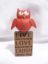 Blossom Bucket OWL resin Figurine motivation faith inspirational Live La... - $7.99