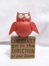 Blossom Bucket OWL resin Figurine motivational faith inspirational quote... - $7.99