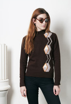 Totally retro knit jumper 70s vintage sweater - $38.30