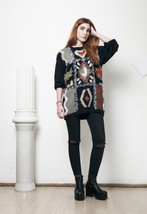90s vintage fluffy knit Jesus Hearts You jumper - $38.30