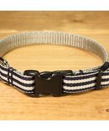 Mod Stripe Navy Grosgrain Adjustable Cat Collar / Made in Japan - $22.00
