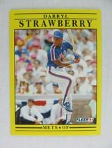 Darryl Strawberry New York Mets 1991 Fleer Baseball Card 161 - $0.98