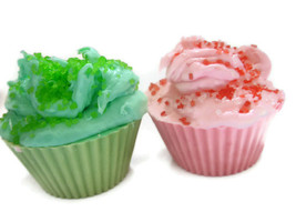 cupcake bath soaps. set of 2 - $7.99