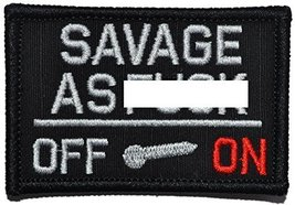 Savage As F*** Activated - 3x2 Hat Patch - Black - $5.87