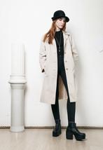 70s vintage beige trench coat - $60.83