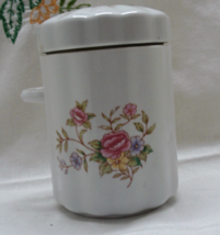 Vintage FTDA Ceramic Tea/Sugar Canister // Floral Design // Seal Proof Lid - $10.20