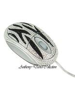 Black & Silver Zebra Crystal Optical Computer Desk Mouse with Swarovski ... - $39.99