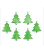 Green Christmas Tree Holiday Ornaments - Set of 6 - $6.95