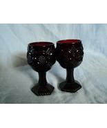 Two Avon Ruby Red Wine Glass Goblets Presidents Celebration 1976  - $9.50