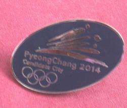 PyeongChang South Korea Olympic 2014 Pin Pinback Candidate City Olympic LadyWe - $11.39