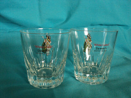 Two Dewars White Label Scotch Whisky Glasses - $9.49