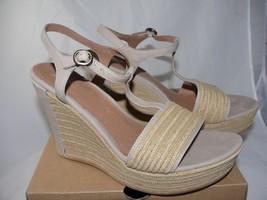 UGG Australia Fitchie Platform Wedge Sandals 1006844 Oyster Tan beige size 11 - $74.79