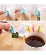 5pcs Cute Snail Style Mini Tea Bag Holders Hanging Cup Clips Random Color - $244,21 MXN