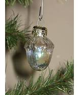 Iridescent Glass Miniature Feather Tree ACORN Christmas Ornaments x5 - $5.98